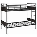Coaster Beesly Industrial Twin Bunk Bed with Plumbing Pipe Details