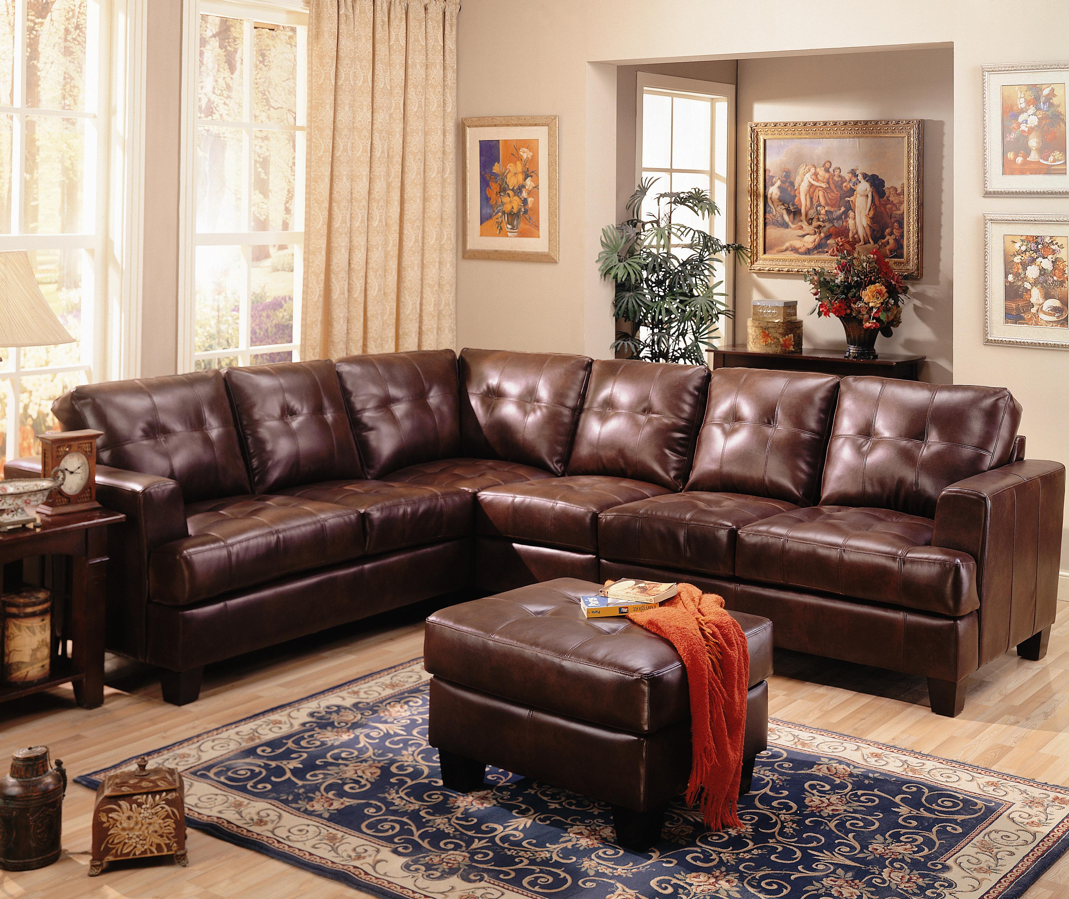 Coaster Samuel Sectional Sofa - Item Number: 500911+AC