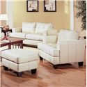 Coaster Samuel Chair and Ottoman - Item Number: 501693+4