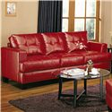 Coaster Samuel Contemporary Leather Sofa