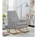 Coaster 600454 Rocking Chair in Grey Fabric