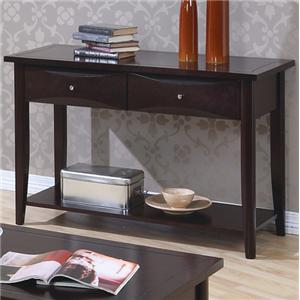 Coaster Whitehall Sofa Table w/ Shelf & Storage Drawers