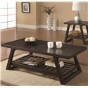 Coaster Occasional Group Casual Coffee Table with Slatted Bottom Shelf