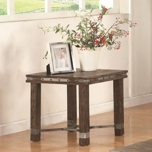 Coaster 703540 Rustic End Table