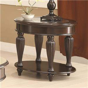 Coaster 70384 End Table w/ Lower Shelf