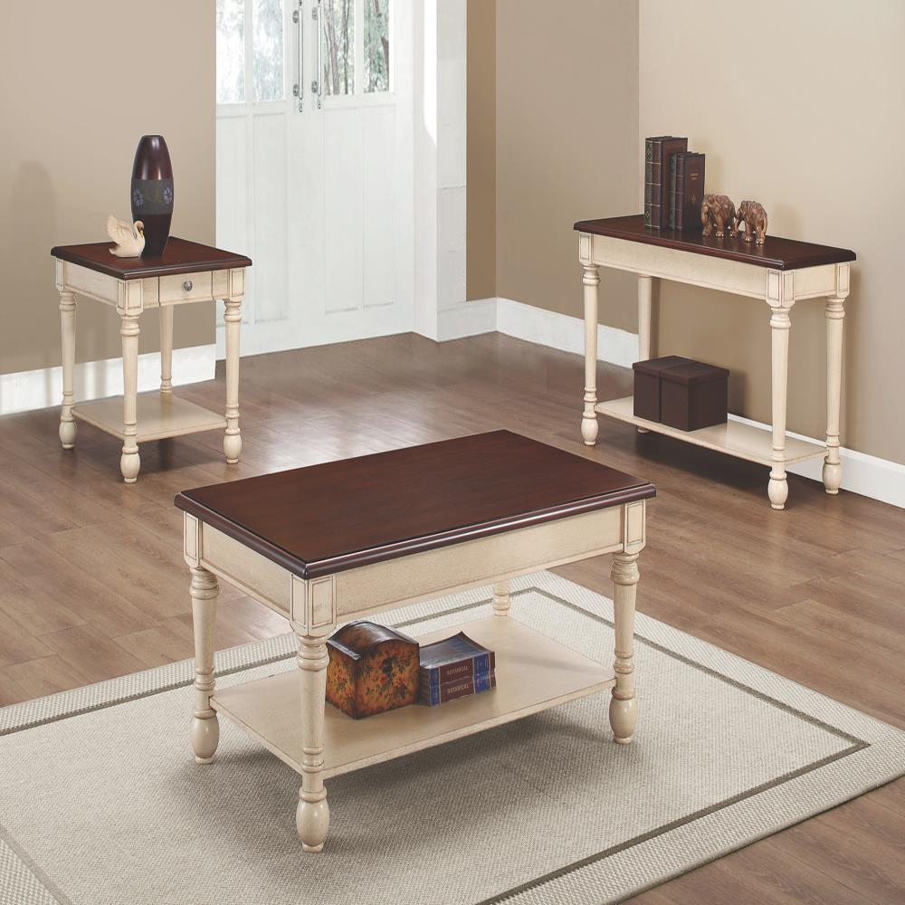 Coaster 70441 Two Toned Transitional Occasional Table Group Value City Furniture Occasional