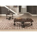 Coaster 70497 Rustic Coffee Table with Industrial Wheels