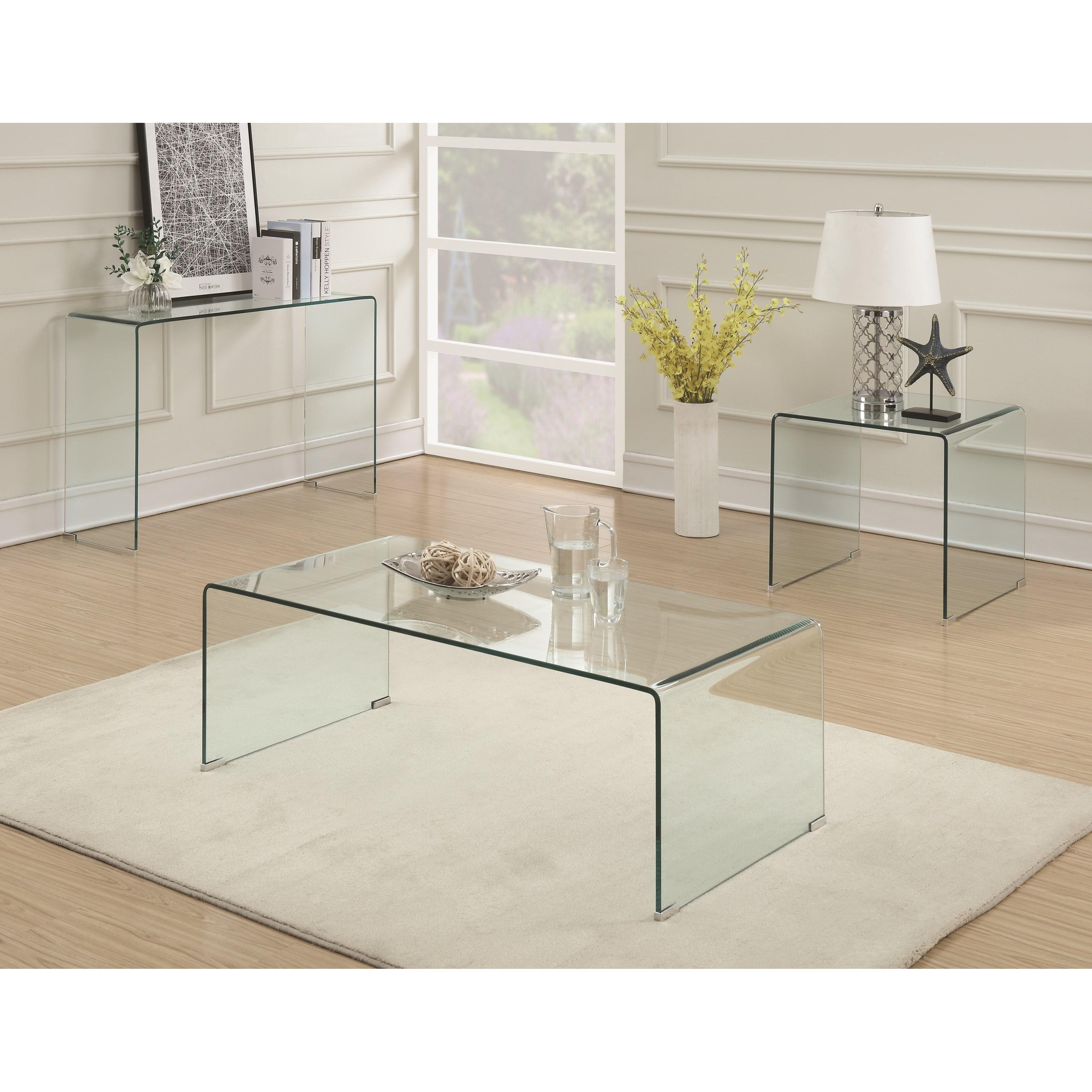 Coaster 70532 Clear Acrylic Coffee Table Value City