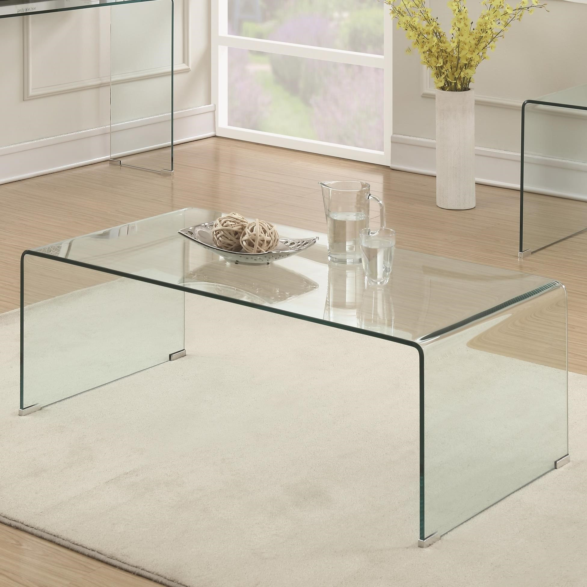 - Coaster 70532 Clear Acrylic Coffee Table Value City Furniture