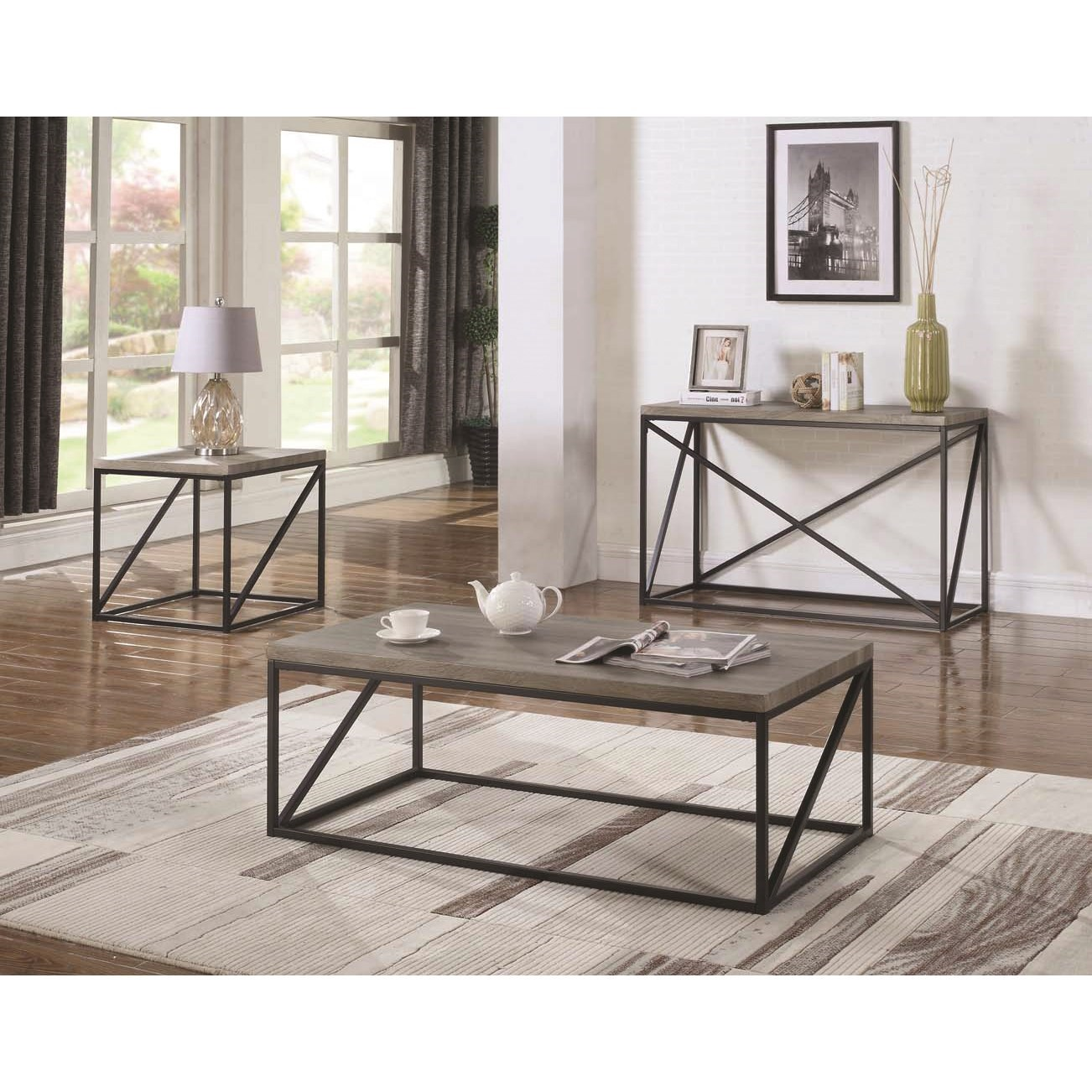 Coaster 70561 Industrial Sofa Table Value City Furniture