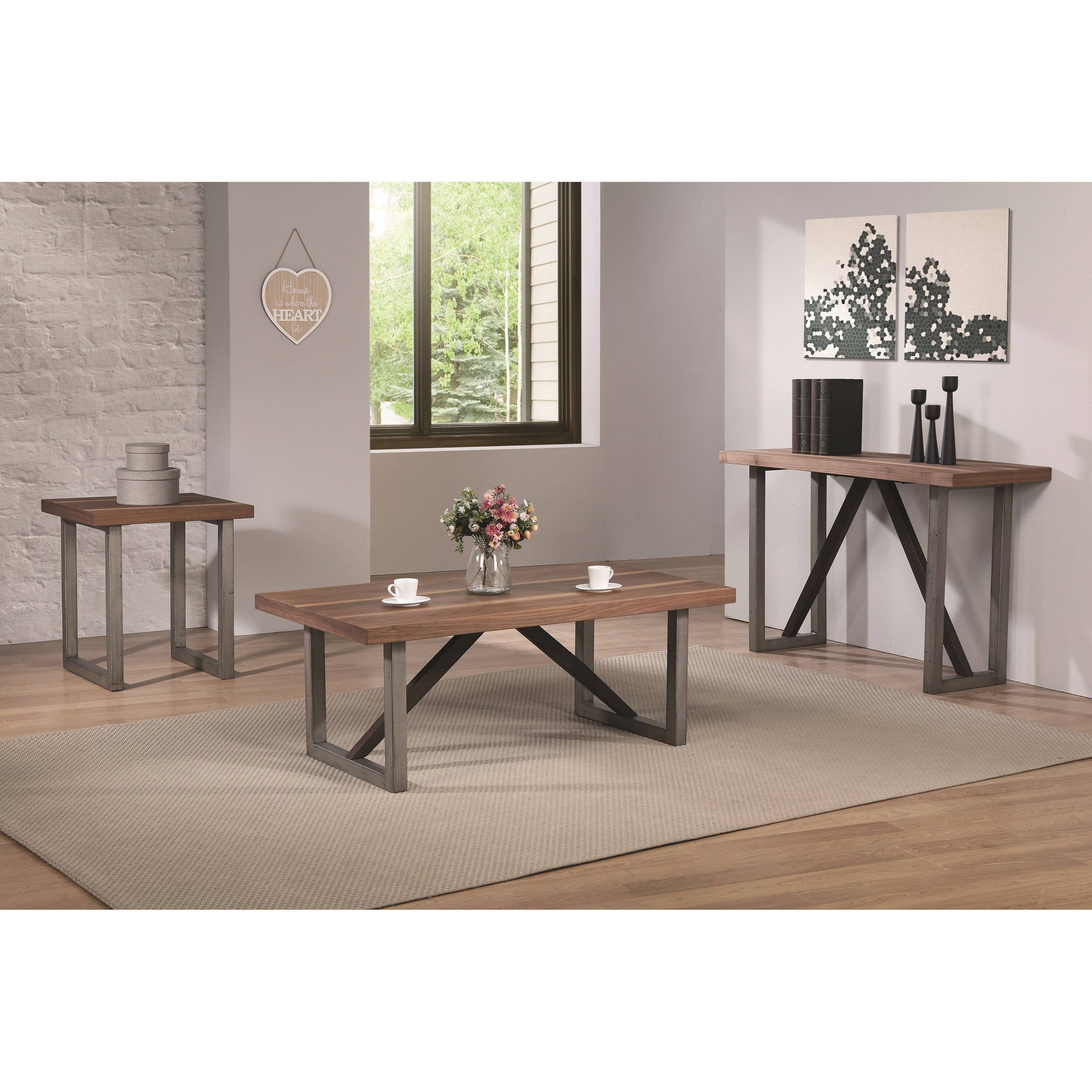 Coaster 70564 Industrial Sofa Table Value City Furniture