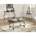 Coaster 720540 Traditional Oval End Table