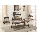 Coaster 72055 Brown Mid-Century Modern End Table