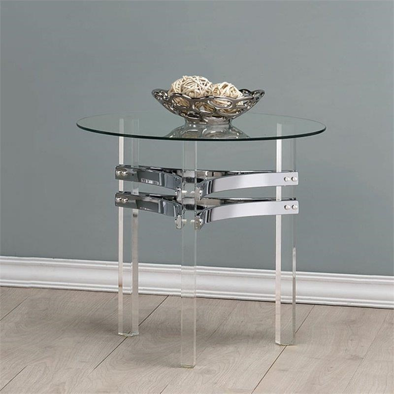 Coaster 720708 GLASS END TABLE - Item Number: 720707