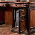 Coaster Pergola Double Pedestal Kneehole Credenza Desk - Right Pedestal Features Computer Tower Storage Cabinet