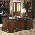 Coaster Tucker Double Pedestal Desk with Leather Insert Top