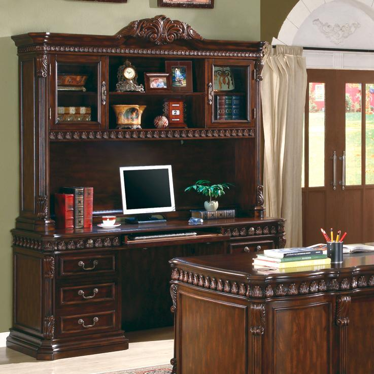Coaster Union Hill Desk and Hutch - Item Number: 800801B+H