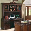 Coaster Tucker Double Pedestal Computer Desk - Shown with Hutch