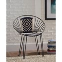 Coaster 903860 Boho Iron Accent Chair with Hand-Woven Upholstery