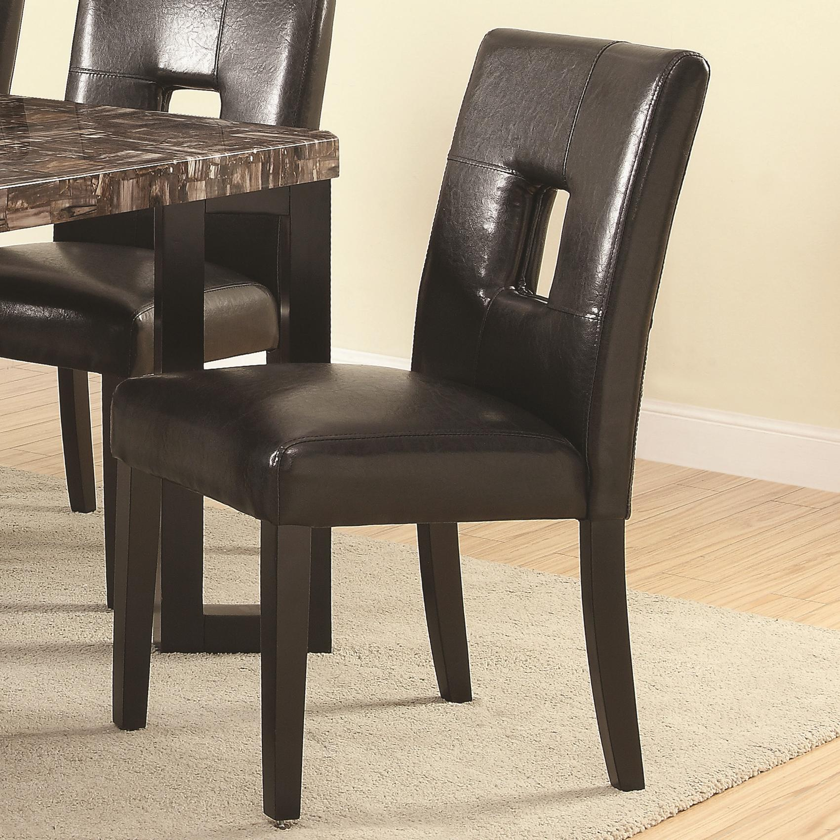 Coaster Abigail  Side Chair - Item Number: 103612BLK