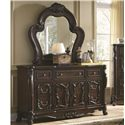 Coaster Abigail Dresser with Mirror - Item Number: 204453+204454