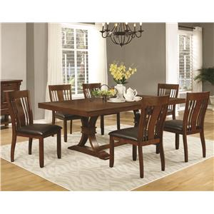 Coaster Abrams 7 Piece Dining Table Set