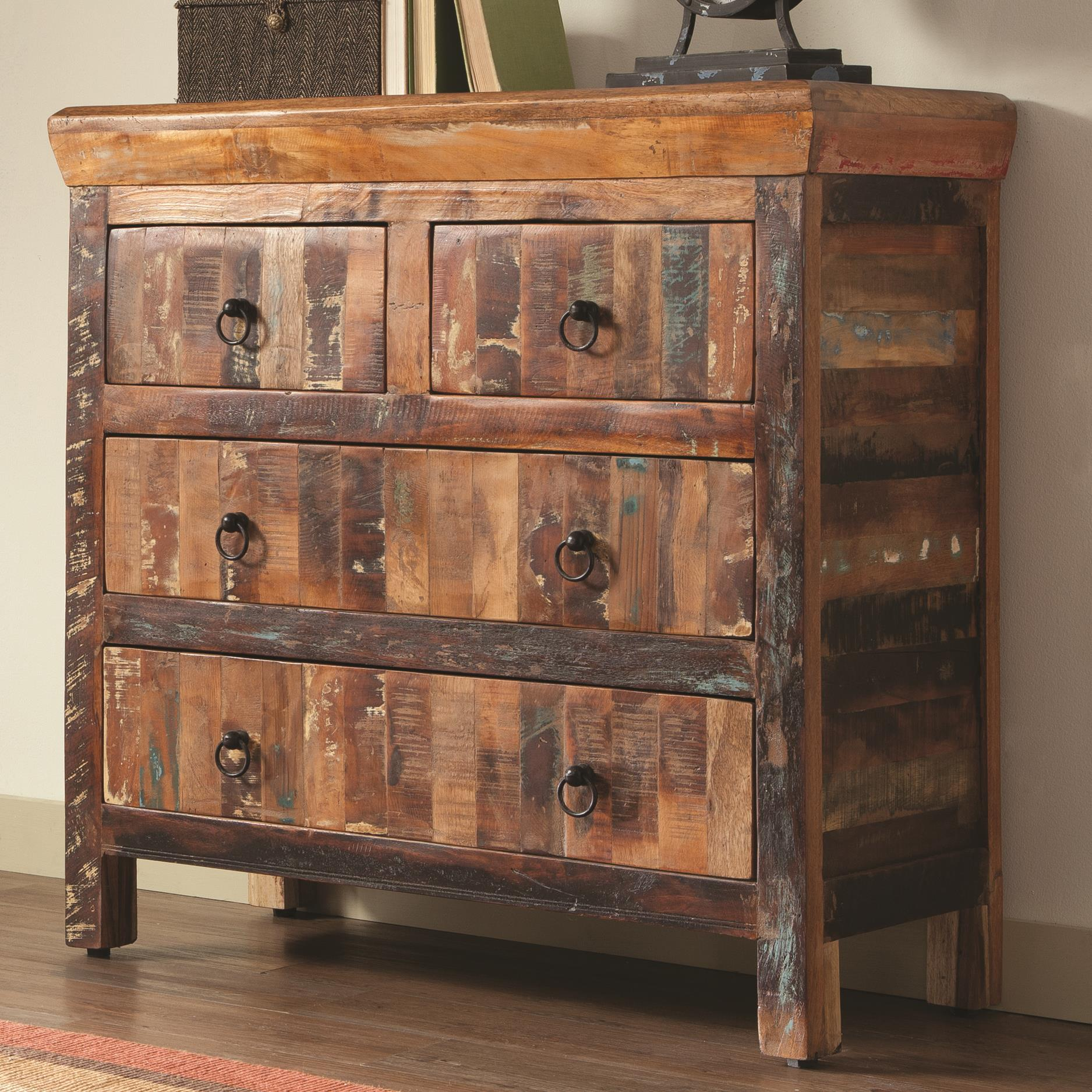 Coaster Accent Cabinets 950366 4 Drawer Reclaimed Wood
