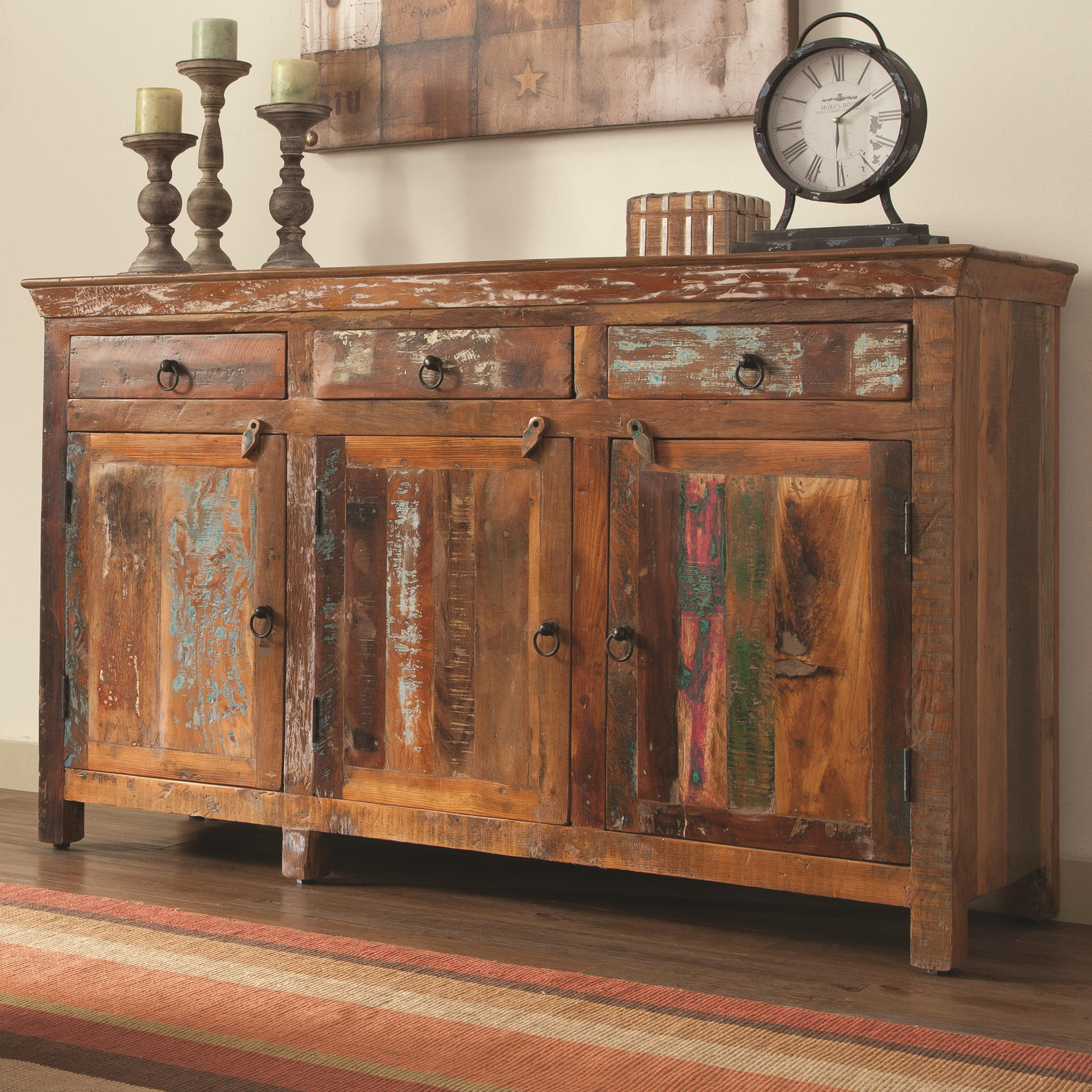 Coaster Accent Cabinets 950367 Rustic Cabinet W Doors