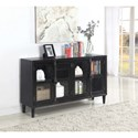 Coaster Accent Cabinets Black Accent Cabinet with Glass Doors