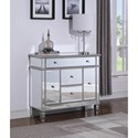 Coaster Accent Cabinets Contemporary Silver Accent Cabinet with Mirrored Front