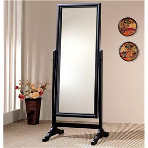 Coaster Accent Mirrors Black Rectangular Cheval Mirror