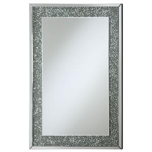 Coaster Accent Mirrors Mirror with Mirrored Frame and Pebble-Like Insert