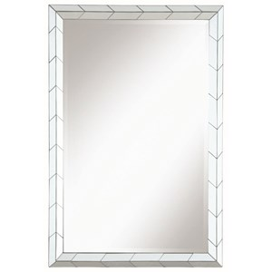Coaster Accent Mirrors Mirror with Chevron Pattern