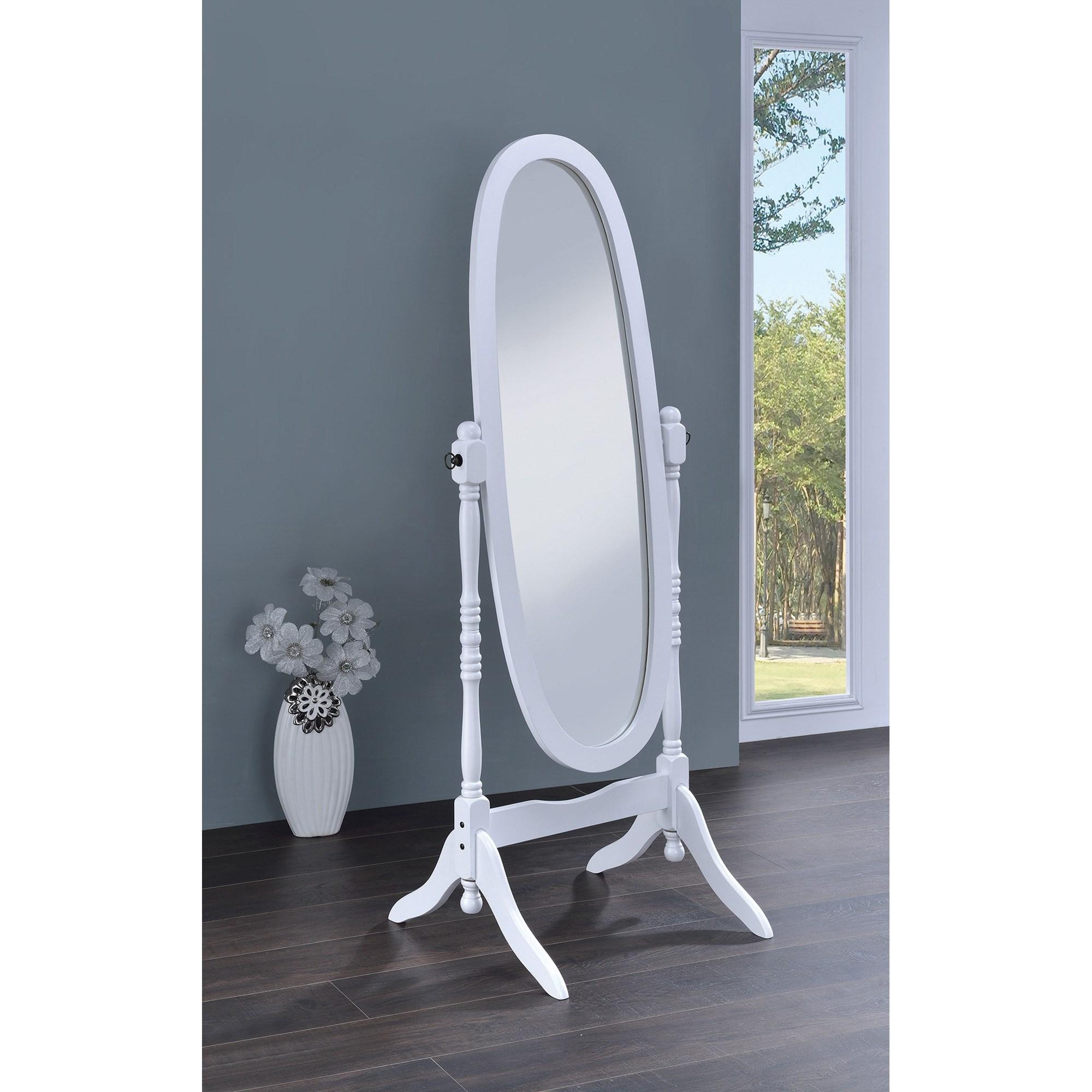 Coaster Accent Mirrors 950802 Cheval Oval Mirror Sam