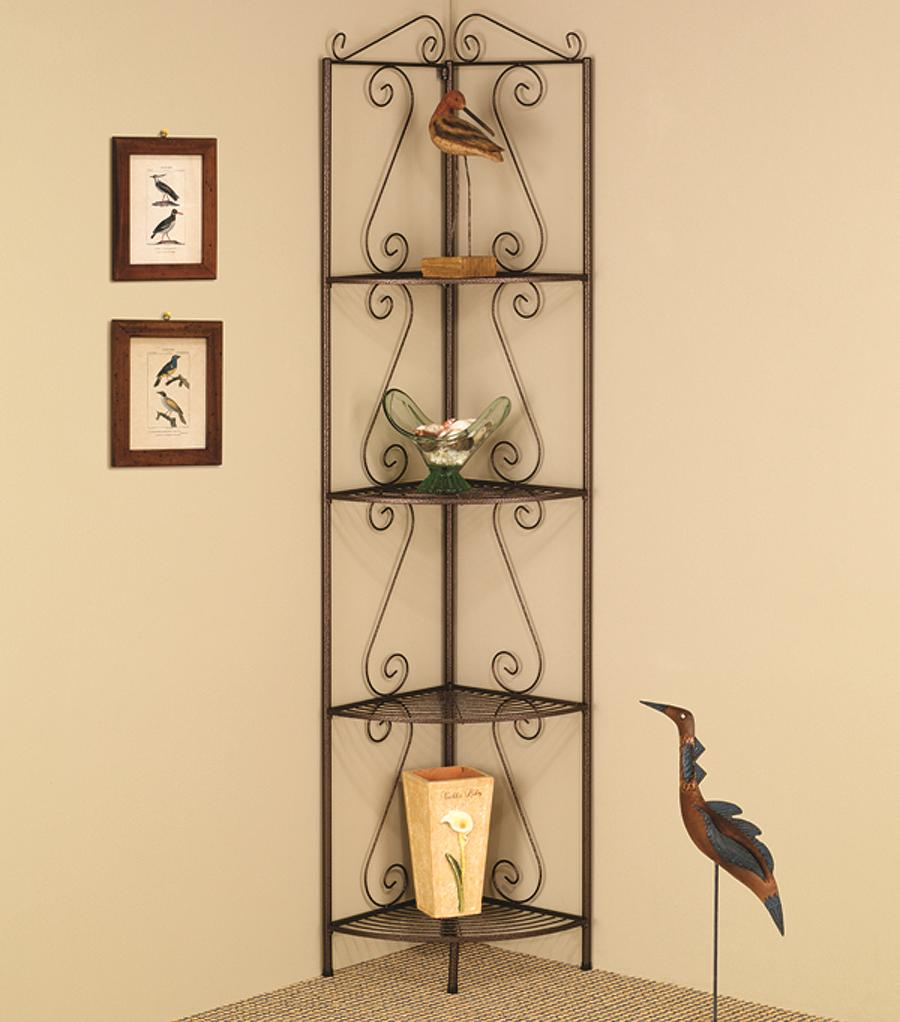 Coaster Accent Racks Copper Corner Shelf - Item Number: 910035