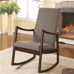 Coaster Accent Seating Upholstered Rocking Chair