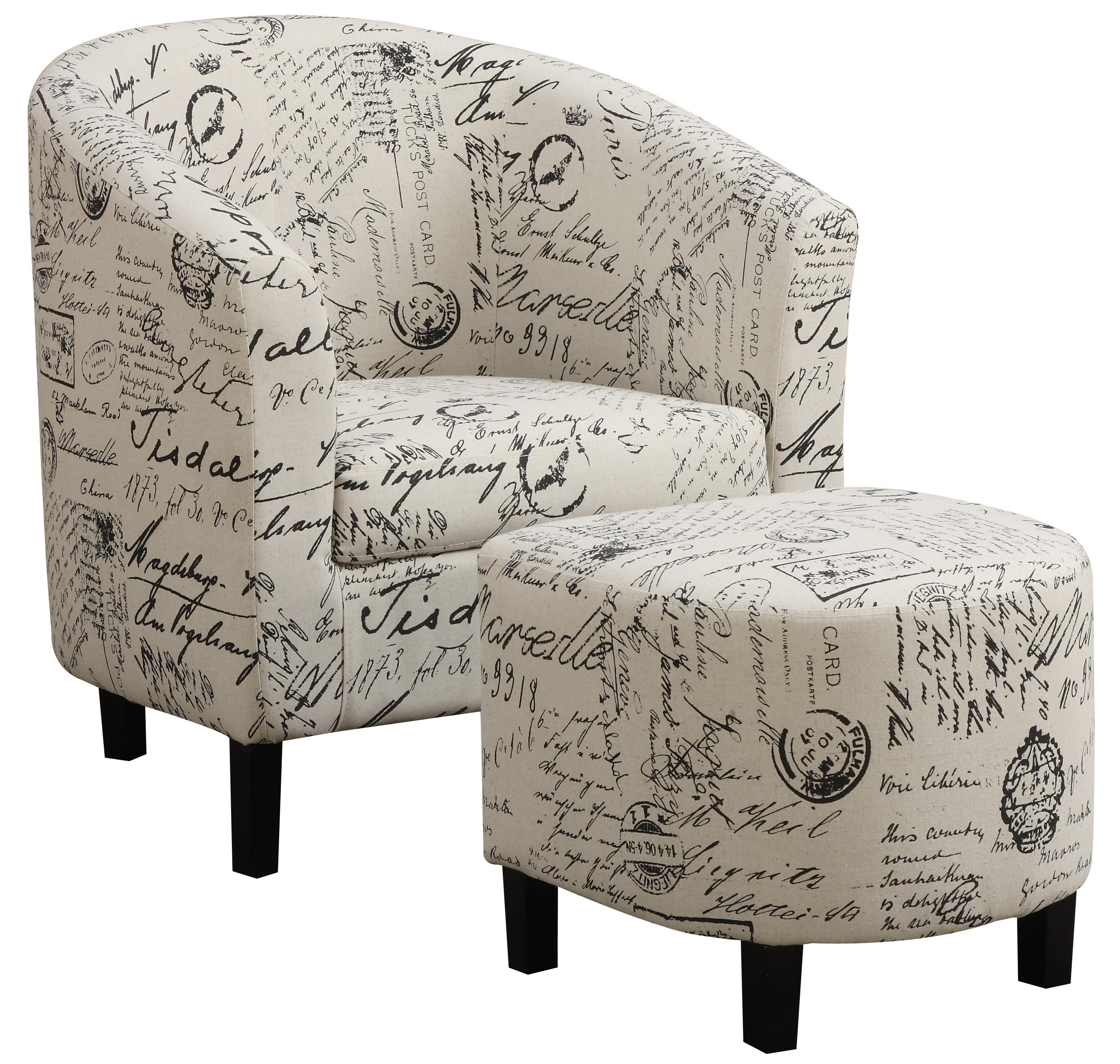 Coaster Accent Seating Accent Chair and Ottoman - Item Number: 900210