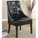 Coaster Accent Seating Upholstered Accent Chair with Tufted Button Accents - Also Available in Black