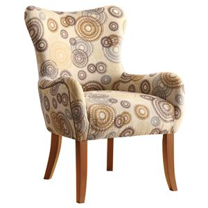 Coaster Accent Seating Accent Chair w/ Nailhead Trimming