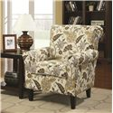 Coaster Accent Seating Smooth and Simple Retro Styled Accent Chair with Decorative Rolled Arms - 902082