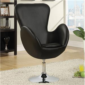 Coaster Accent Seating Leisure Chair (Black)