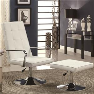 Coaster Accent Seating Accent Chair and Ottoman