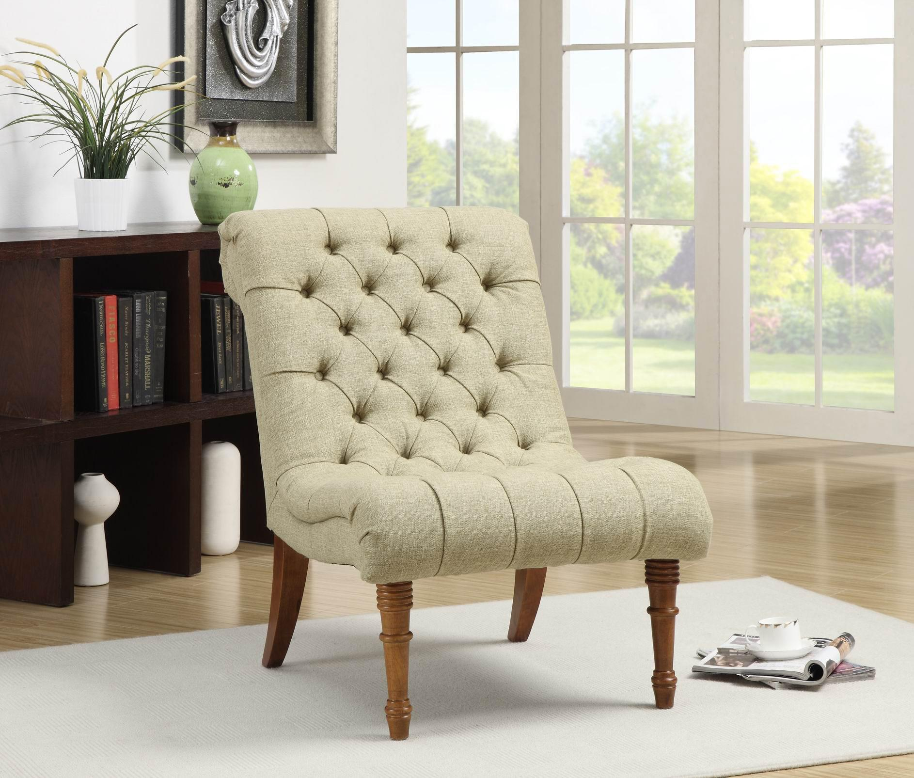 Coaster Accent Seating 902218 Tufted Accent Chair Without