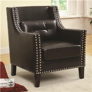 Coaster Accent Seating Transitional Wing Chair