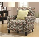 Coaster Accent Seating Casual Accent Chair with Track Arms