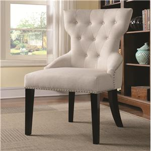 Button Tufted Back Chair