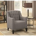 Coaster Accent Seating Accent Chair with Diamond Tufting and Nailhead Trim