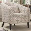 Coaster Accent Seating Curved Upholstered Chair with Pillow
