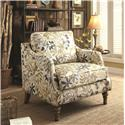 Coaster Accent Seating Upholstered Accent Chair with Leaf Pattern