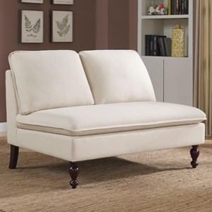 Coaster accent seating microfiber chaise lounge del sol for Accent traditional chaise by coaster